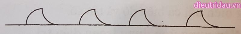 Hình 4. Dòng điện xung hình lưỡi cày.